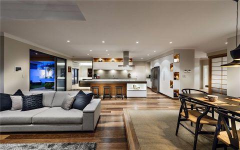 客厅白色走廊现代简约风格效果图