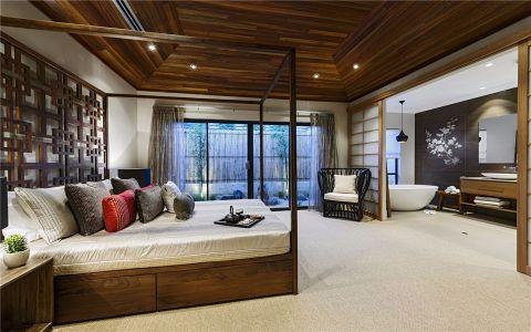 卧室咖啡色吊顶现代简约风格装潢图片