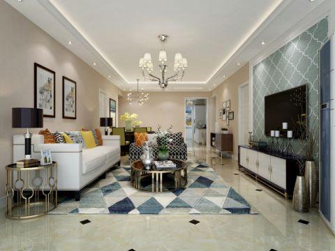 客厅白色沙发现代风格装饰设计图片