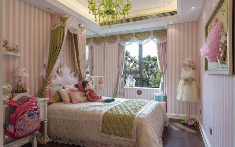 朴素温馨儿童房飘窗设计效果图