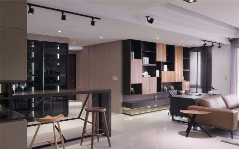 客厅黑色吧台现代风格装饰效果图