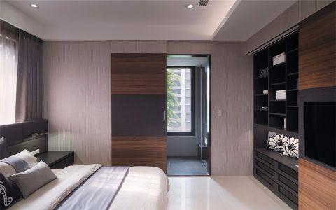 卧室咖啡色隔断现代风格装修图片