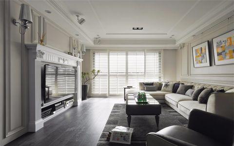 客厅窗帘现代简约设计图片