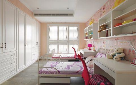 华丽儿童房背景墙装修图片
