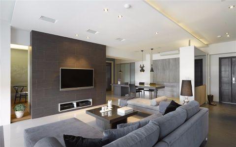 客厅灰色背景墙家装设计图