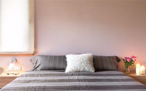 卧室粉色背景墙现代风格装饰设计图片