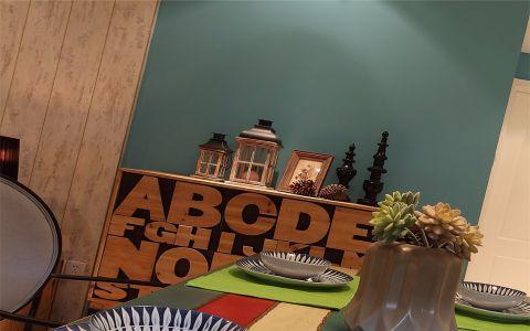 餐厅蓝色背景墙案例图片