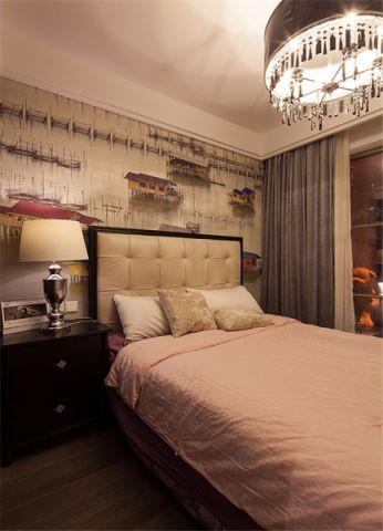 低调优雅灰色卧室设计效果图