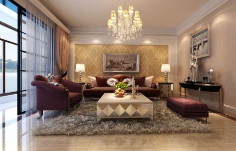 完美黄色客厅图片