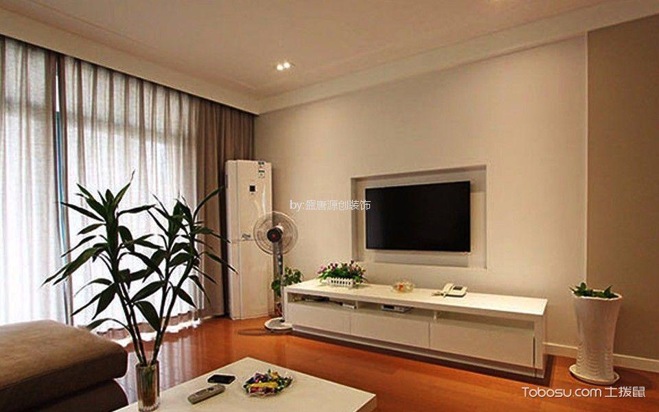 70平现代简约风格一居室装修效果图