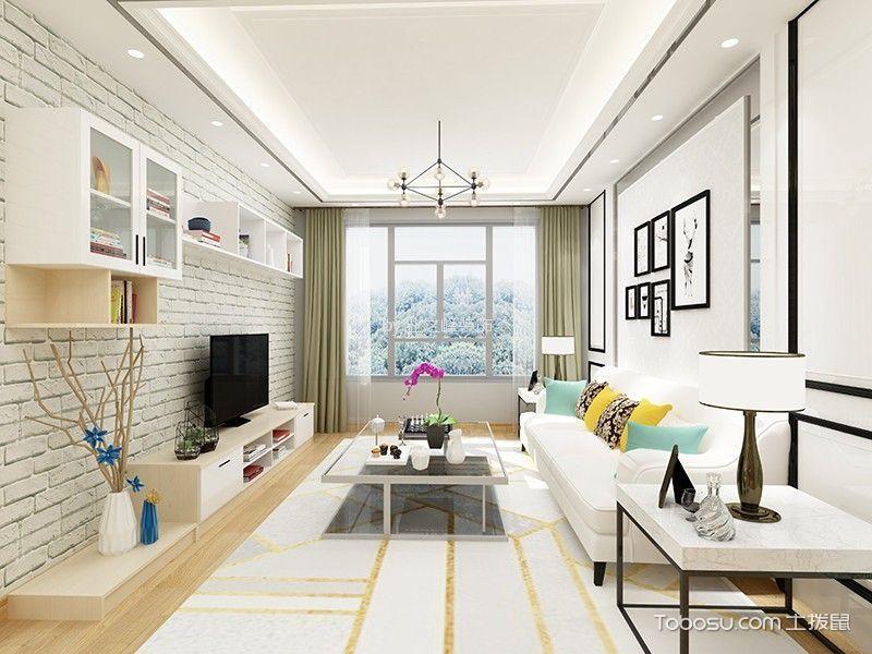 19万预算100平米两室两厅装修效果图