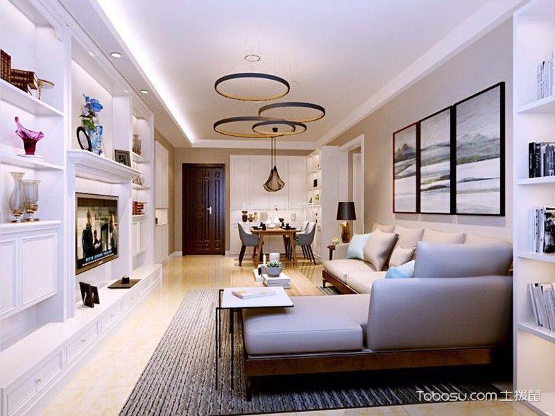 客厅吊顶现代简约风格装修设计图片图片