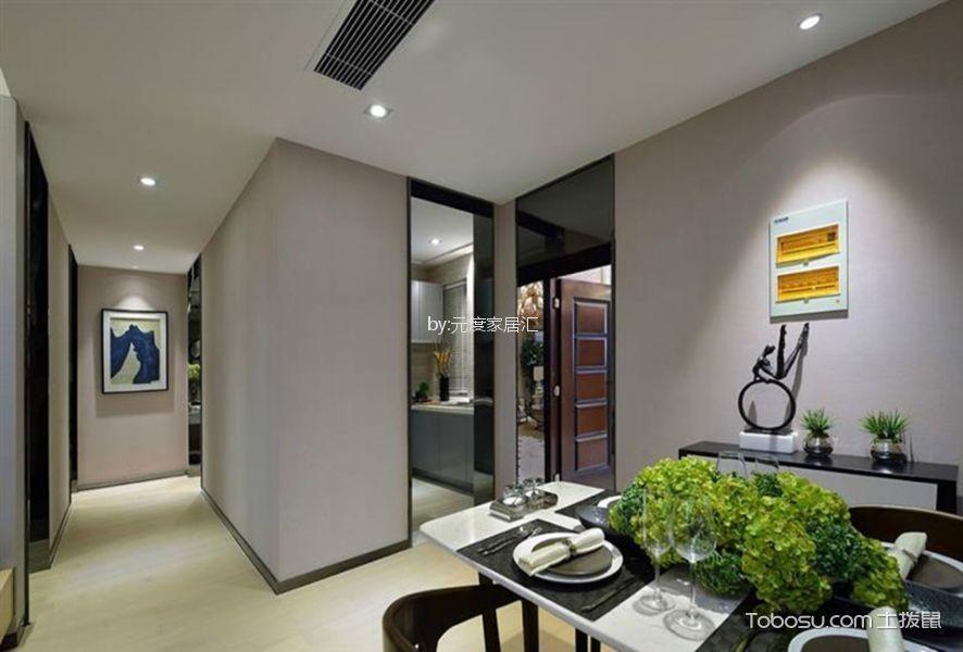 翡翠城100平现代风格二居室装修效果图