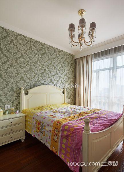 儿童房米色窗帘美式风格装潢效果图