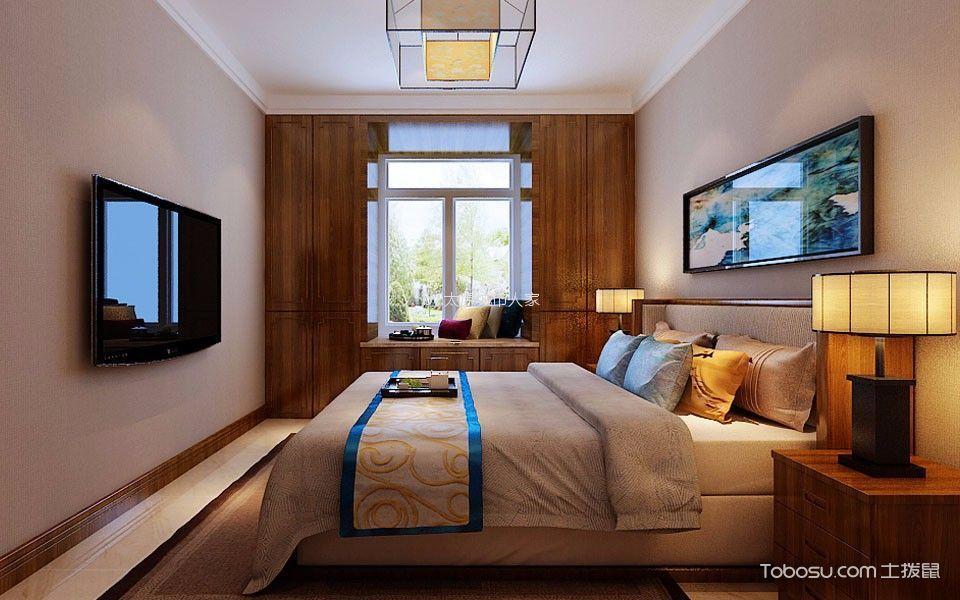 卧室 飘窗_智诚131平中式风格三居室装修效果图