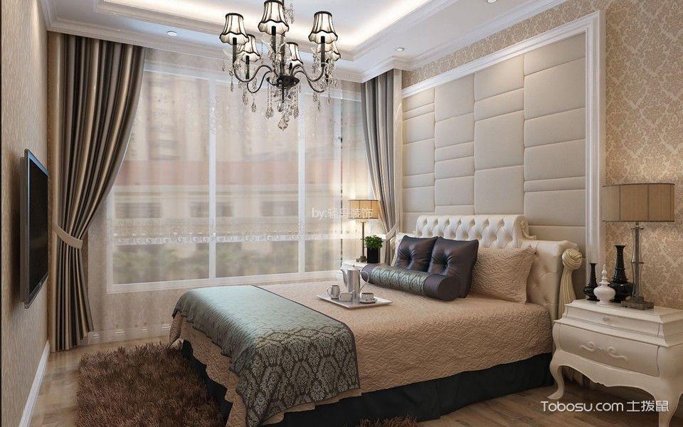 卧室背景墙现代欧式装饰图