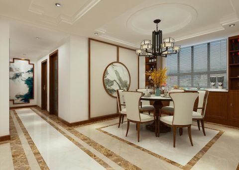餐厅白色吊顶新中式风格装饰效果图