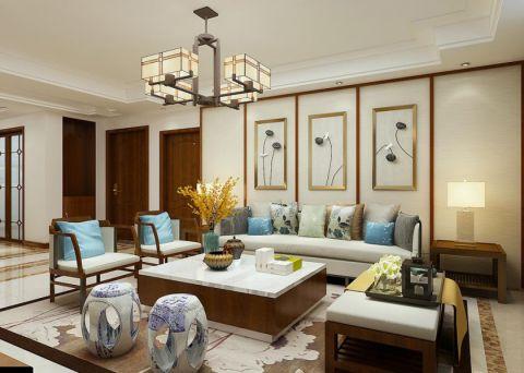 泰安新华城175平新中式风格装修设计方案-万泰装饰公司