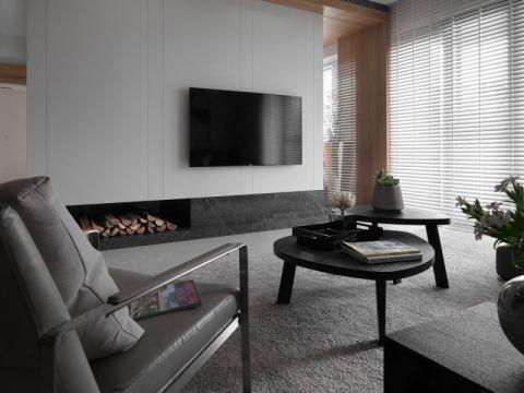 2018简约客厅装修设计 2018简约窗帘装修效果图片