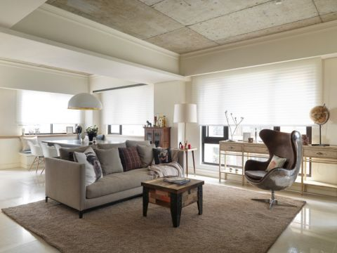 客厅灰色沙发简约风格装修图片