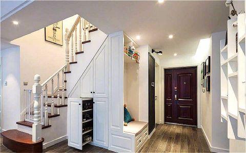 玄关白色楼梯北欧风格效果图
