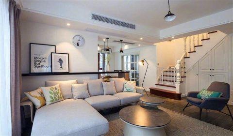 客厅米色照片墙北欧风格装潢效果图