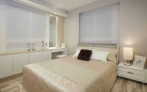 卧室白色窗帘现代风格装潢图片