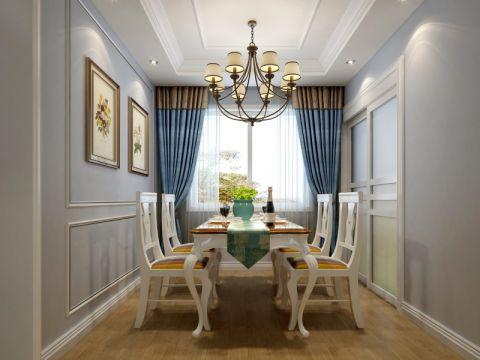 餐厅窗帘北欧风格装潢图片