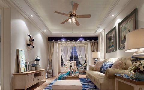 现代简约客厅窗帘设计图