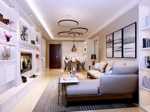 最新白色客厅装潢效果图