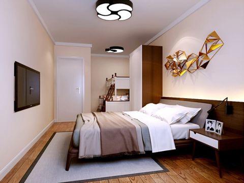 美观大方卧室床装饰实景图片