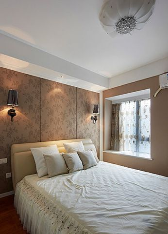 卧室白色飘窗现代风格装潢效果图