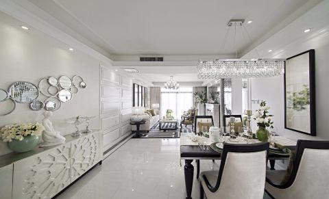 餐厅白色走廊现代简约风格装潢设计图片