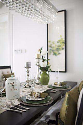 餐厅白色细节现代简约风格效果图