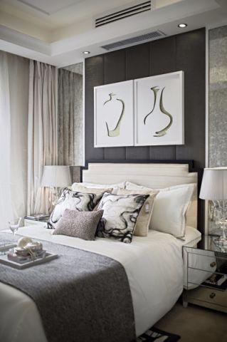 卧室照片墙简欧风格装修效果图