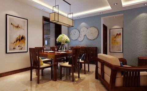 餐厅彩色照片墙新中式风格装潢图片