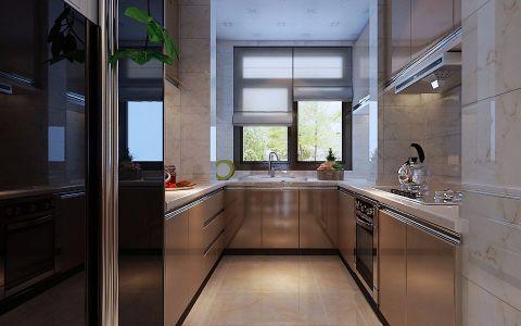 厨房米色吊顶新中式风格装饰设计图片