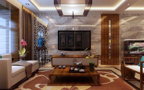 客厅背景墙中式风格装饰图片