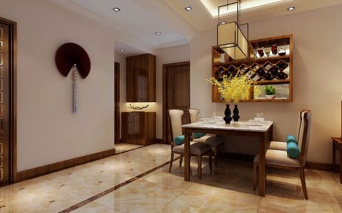 餐厅博古架中式风格装修设计图片