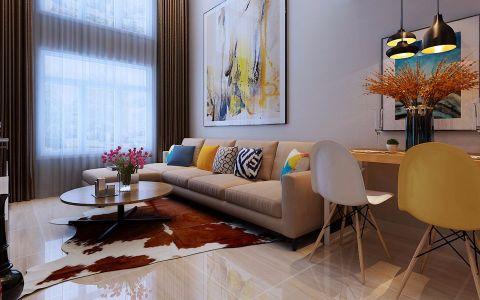 金色米兰现代简约风格复式装修效果图