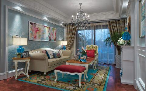 富贵山小区70平美式风格二居室装修效果图