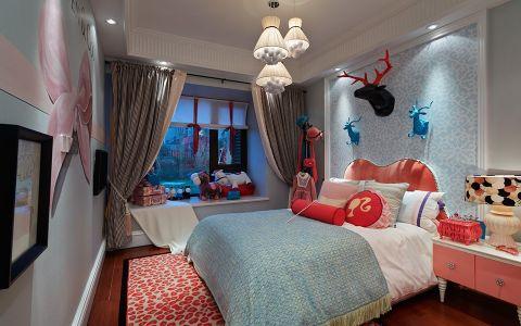 儿童房飘窗美式风格装修效果图