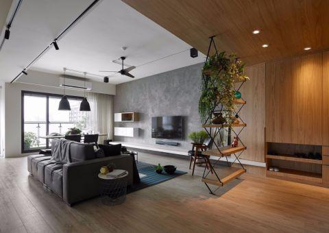 碧湖园现代简约风格120平大户型装修效果图