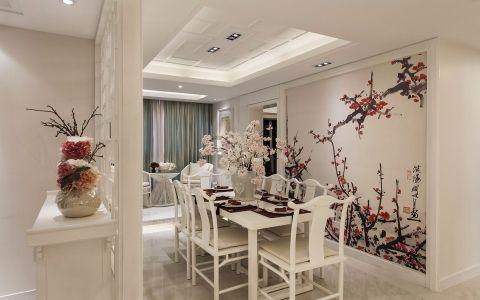 餐厅白色吊顶装潢设计图片
