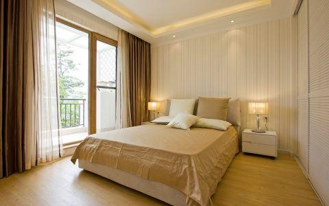 清新素丽黄色卧室设计图片