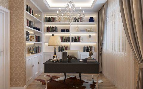 书房窗帘现代欧式风格装潢效果图