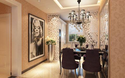 餐厅白色隔断现代欧式风格装修图片