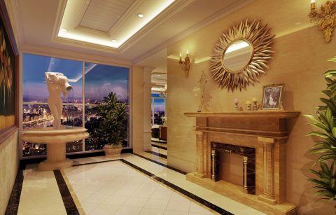 玄关走廊欧式风格装潢效果图