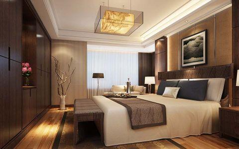卧室窗帘新中式风格效果图