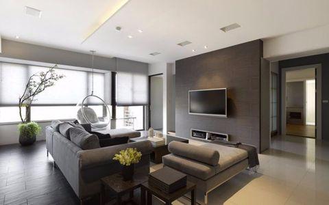 复地东湖国际132平现代简约三居室装修效果图